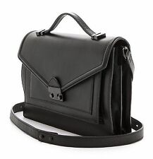 Loeffler Randall Rider Nappa Leather Satchel Bag Black NWT $525