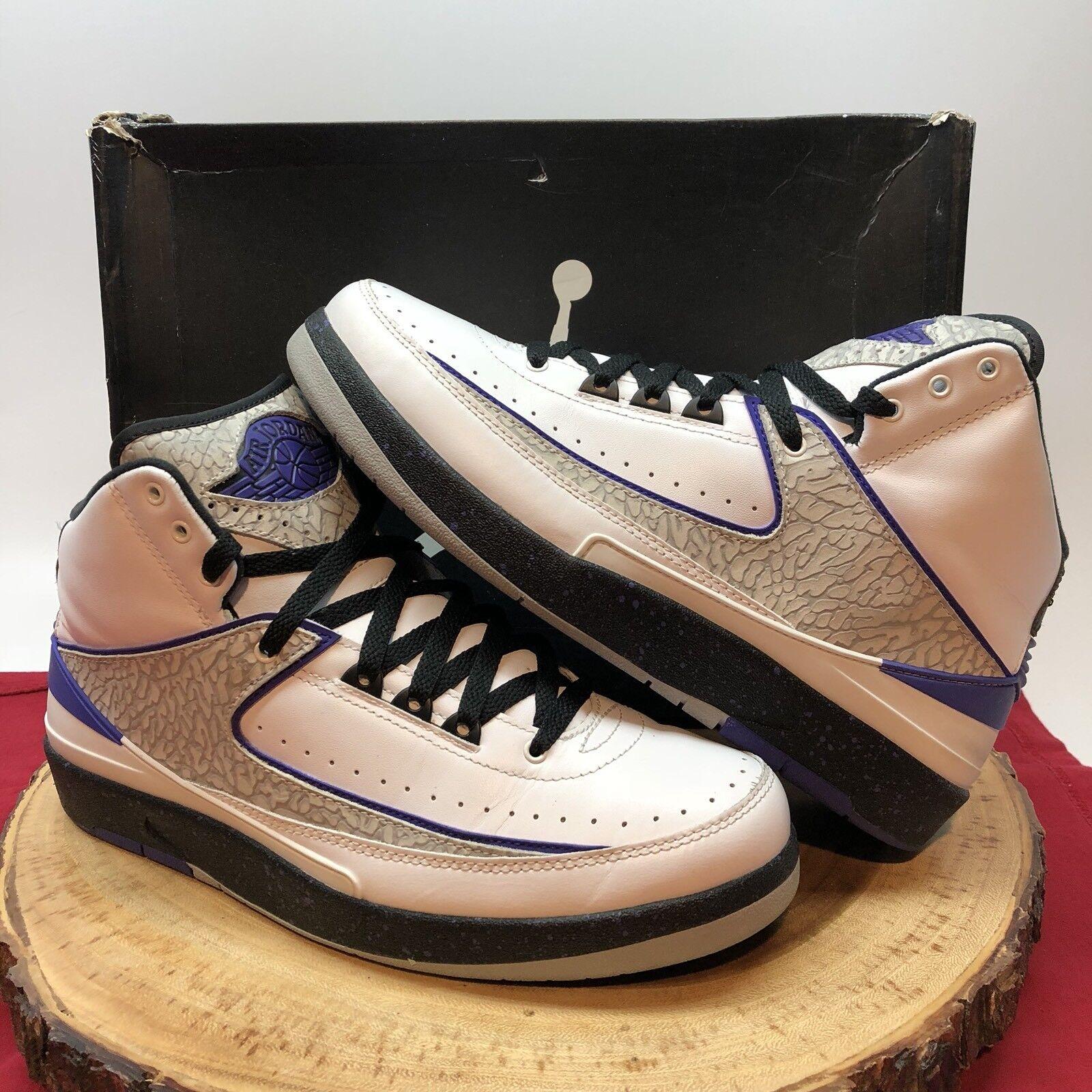 Nike Air Jordan Retro II Concord Purple Cement Size 9.5 385475 153 IV III XI XII