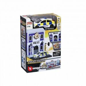 Bburago-Build-Your-City-Police-Station-Bausatz-1-43-mit-2013-Ford-Focus-ST