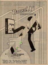 Brand X Phil Collins Genesis UK Tour Advert 1979 MM-XCTY