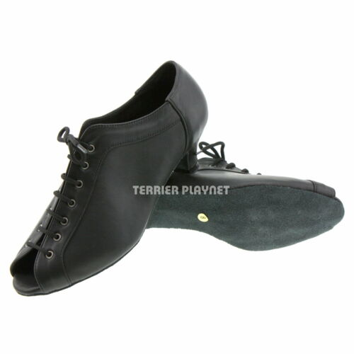 TPS High Quality Black Leather Latin Ballroom Salsa Custom-made Dance Shoes D527