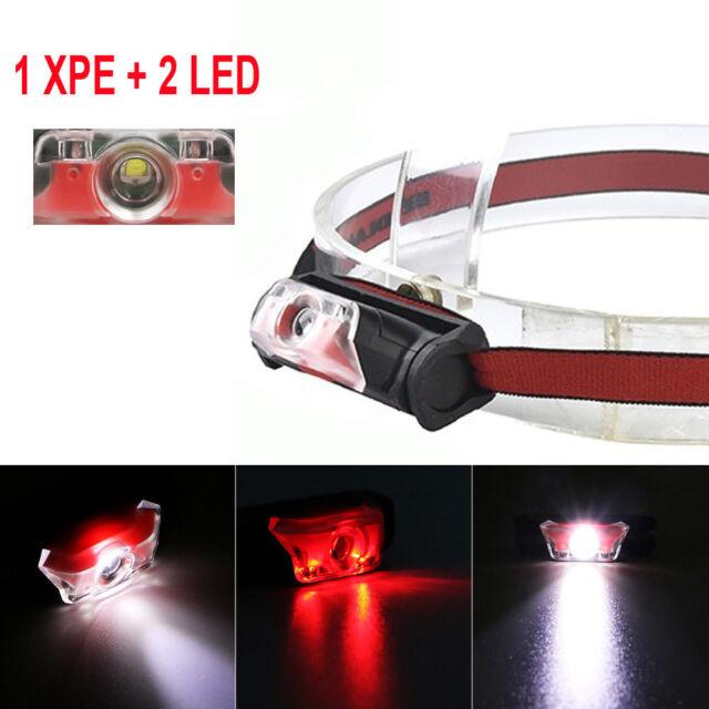 New 1000LM Outdoor Mini Headlight 4 Mode AA XPE + 2 LED Headlamp Head Torch Lamp