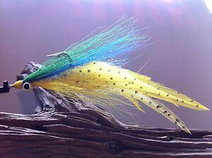 DECEIVER//CLOUSER FLY 2 FLIES Mustad 34007 #1//0,redfish,snook,tarpon,striper,pike