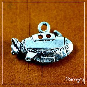 Details about Cute Submarine charm ~1pc~ Tibetan silver underwater cartoon  sub propeller boat