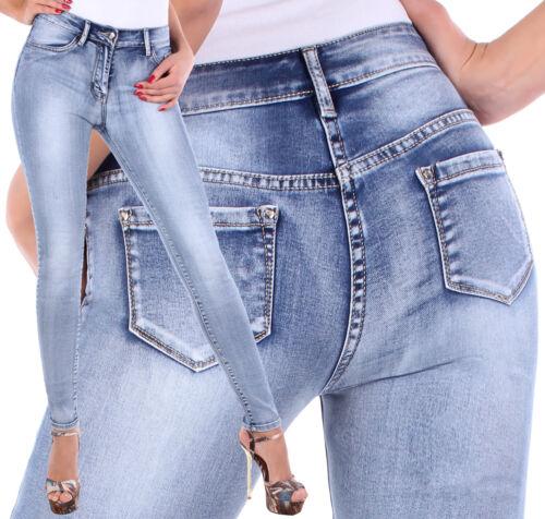 Stretch Jeans Hose Damen High Waist Röhre Röhrenjeans Damenhose Röhrenhose ★ 2w