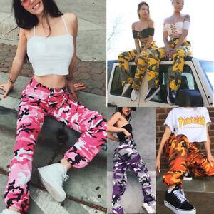 4d17891cd543b Image is loading Fashion-Women-Sports-Camo-Cargo-Pants-Outdoor-Casual-
