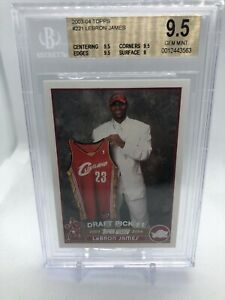 GG-Mystery-Chase-Series-1-Lebron-James-Topps-221-Rookie-Card-BGS-9-5-Read