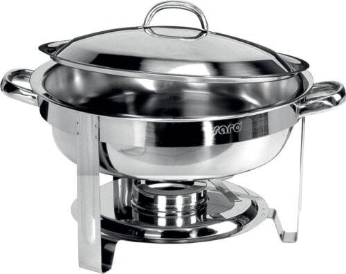 Chafing Dish rund Edelstahl hochglanzpoliert Speisenwärmer CNS Wasserbad