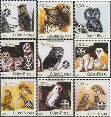 Never Hinged 2001 Birds Be Friendly In Use Topical Stamps Guinea-bissau 1428-1436 Unmounted Mint Africa