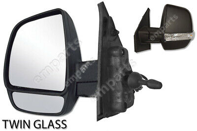 Right Driver side wing mirror glass for Fiat Doblo 2010-2018 heated