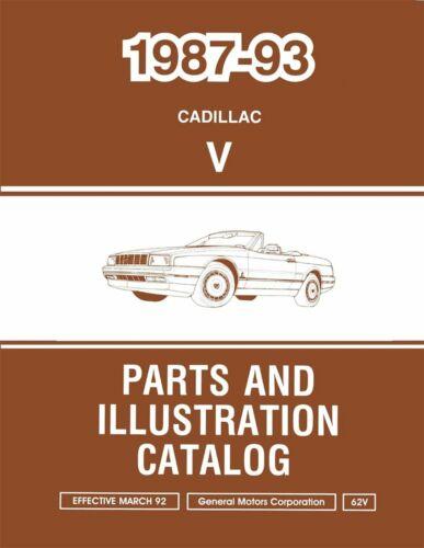 OEM Repair Maintenance Parts Book Loose Leaf for Cadillac Allante 1987-1993