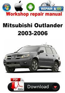 mitsubishi outlander 2003 2006 factory workshop repair manual ebay rh ebay com mitsubishi outlander 2003 service manual mitsubishi outlander 2003 user manual pdf