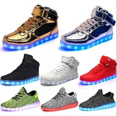 Christmas Unisex Women Men LED Light Up Shoes Luminous Casual High Top Shoes Lot