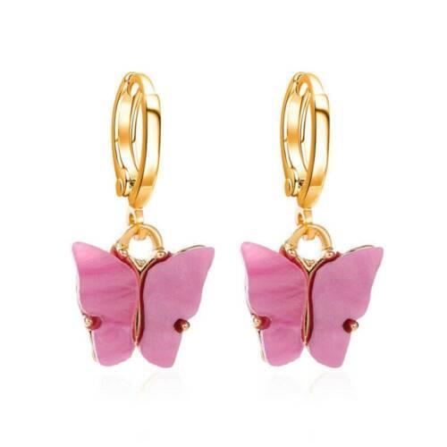 Butterfly Acrylic Insect Earrings Women Boho Dangle Drop Earring Cute Jewelry UK