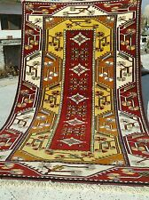 """Gorgeous Decorative 1950-1960s Vintage 4'2×6'10"""" Natural Dyes Wool Pile Rug"""