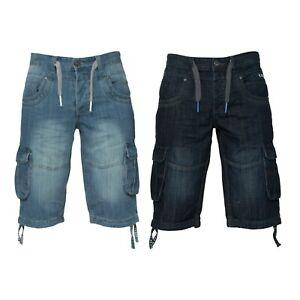 Brand-New-Mens-ETO-Summer-Denim-Shorts-9901-Combat-Cargo-Half-Jeans-Pants-28-48