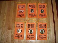 "11"" x 6"" Bruins Stanley Champs Champions Boston Garden Mini BANNER SET 2011 1972"