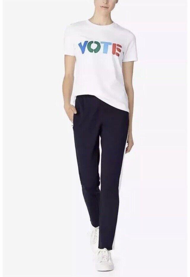 Tory Burch Woherren OWN YOUR VOTE Graphic Tee Weiß Short Sleeve - NWOT - Größe S