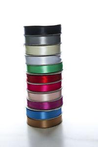 20-mm-x-25-m-Satinband-Geschenkband-Dekoband-Schleifenband-beidseitig-glaenzend