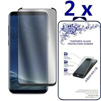 2x 3D Full Cover Case Friendly Glass Screen Protector For Samsung Galaxy S8 Plus