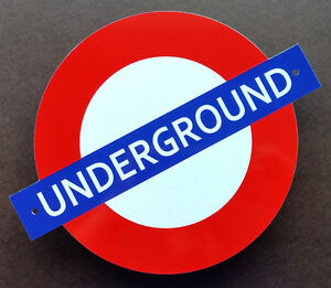LONDON UNDERGROUND SIGN - UK - Subway - Train - The Tube - Railway - Aluminum