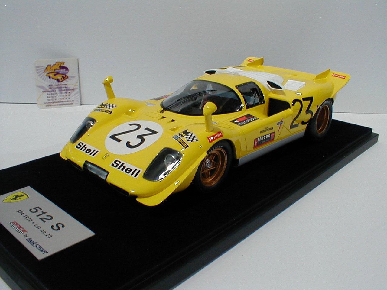 Look Smart LS18-08E -Ferrari 512 S No. 23 1000 KM Spa 1970 Derek Bell 1 18  NEU    Verkaufspreis