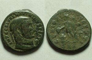 Maximinus II Daia Genius modius altar 312 Rare genuine Ancient Roman coin follis