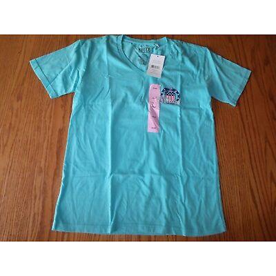 NEW WOMENS ROYCE BRAND V-NECK T-SHIRT GREEN BLUE SEAFOAM LAGOON PINK AMERICA USA