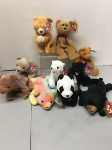 """37f5938e955 Sammy the Bear Ty Beanie Baby 1998 with ERRORS """"GASPORT"""". And Others ..."""