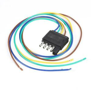 Details about 25 inch 5 Pin US Trailer Light Wiring Harness Extension on