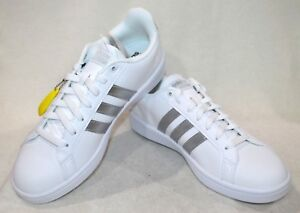 Details about adidas Women's Cloudfoam Advantage White/Silver Sneakers-Size 9.5 NWB AQ0528
