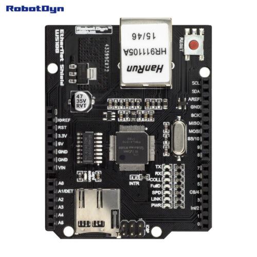 Ethernet Shield W5100 RobotDyn pour Arduino Uno R3 Mega 2560 Micro SD Port