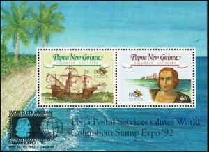 1992-PAPUA-NEW-GUINEA-Columbus-M-S-MNH