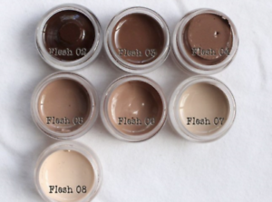 Genesis Heat Set Paints Set of 7 Flesh Colors for Reborn Doll Making 1//2 oz