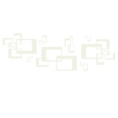 Wandtattoo Retro Rechtecke Ornament Deko Muster Wandtattoo von DESIGNSCAPE®