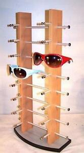 20dbe57c15 BRAND NEW 16 PAIR BROWN WOODEN SUNGLASS DISPLAY RACK wood sunglasses ...