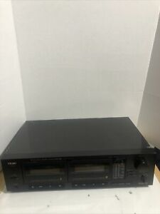 Vintage-TEAC-W-470-Stereo-Double-Cassette-Deck-High-Speed-Dubbing-Dolby-Tested