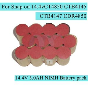 NEW-Battery-Pack-For-Snap-on-14-4V-3-0AH-NIMH-CTB4145-CTB4147-CT4850-CDR4850