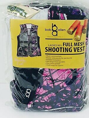 1cda3f1e9c935 Bob Allen Ladies M/L Full Mesh Muddy Camo Design Shooting Vest #10056 -