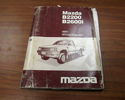 [DIAGRAM_38IU]  1991 Mazda B2600i B2200 Service Wiring Diagram Manual | eBay | 1991 Mazda B2200 Wiring Diagram |  | eBay