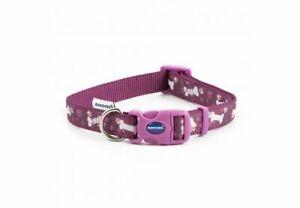 Ancol-Fashion-Purple-Bone-Adjustable-Nylon-Dog-Puppy-Collar-Lead