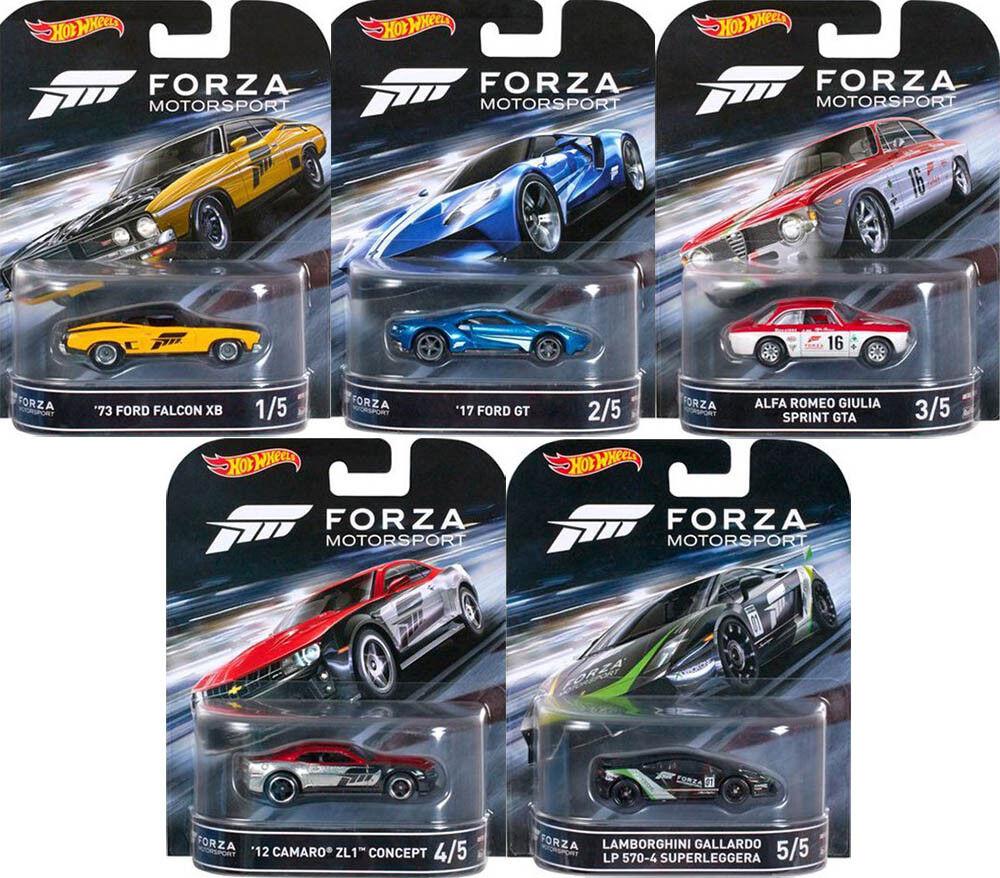 Forza Assortiment Set 5 Modèle Voitures Retro Entertainment XBOX 1 64 Hot Wheels dmc55
