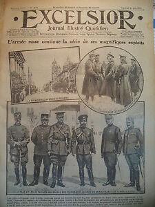 WW1-N-2040-DOUBNO-LOUTSK-PRISES-RUSSE-FRONT-DU-TRENTIN-JOURNAL-EXCELSIOR-1916