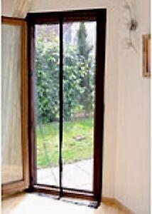 selbstschliessendes premium fliegengitter mit magnetverschluss f r t ren schwarz ebay. Black Bedroom Furniture Sets. Home Design Ideas