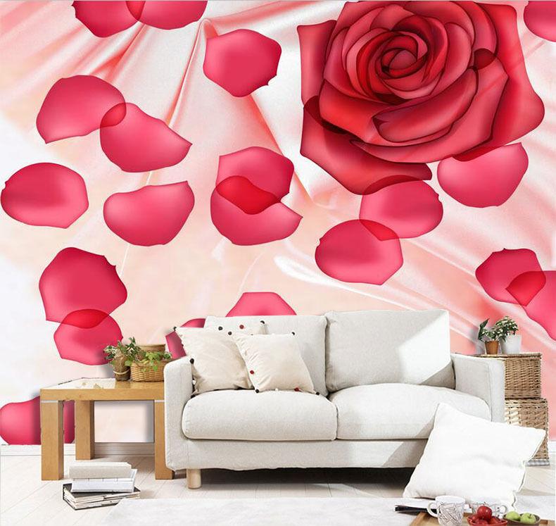 3D Silk Flowers Petals 2602 Paper Wall Print Wall Decal Wall Deco Indoor Murals
