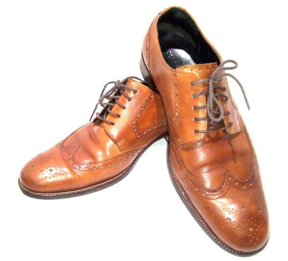 Cole Haan Men's 10M British Tan Benton Wingtip Oxfords Dress Work shoes C24116