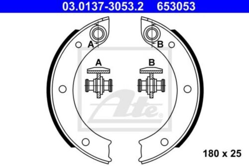 ATE Bremsbackensatz Feststellbremse Handbremse 03.0137-3053.2 Porsche