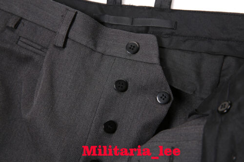 WW2 German Repro Waffen General Stone Gray Breeches with Gray Stripe All Sizes