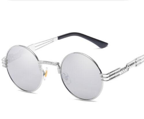 Metal Frame Steampunk Prince Spring Leg Glasses for Women Men/'s Round Sunglasses