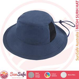 66ec3af7da22c6 Surf Hat Microfiber AH718 Mesh Breeze Chin Strap Full Broad Brim ...